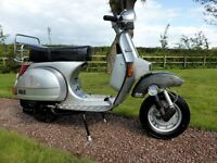 Vespa Piaggio T5 124cc Scooter, reg 12/08/1997, 11508 recorded miles.