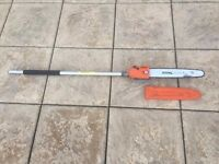 "Stihl Kombi Pole Pruner / Chainsaw 12"" + 1 Extension Pole"