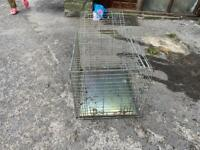 Two door dog or pet travelling cage