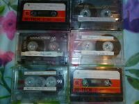 6 hip-hop tapes with brand new covers