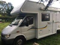 Mercedes Sprinter Motorhome 6 Berth Fixed Bed Campervan VERY LOW MILES! 11k