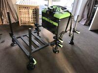 Maver MXi Compact Pro Fishing Seat Box with Footplate - 3 Draws & Deep Base