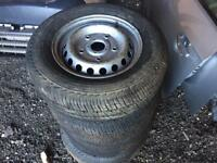 Set of 4 mk8 Ford transit wheels with tyres 215/65/16