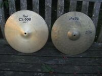 "Cymbals - Paiste 200 and Pearl 14"" Hi Hats"
