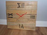 Handmade Large Pallet Wood Clock