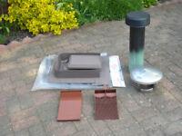 GLIDEVALE Versa Tile G3 Ventilator / Single tile vents / SS Chimney Cowl / Aluminium Flue