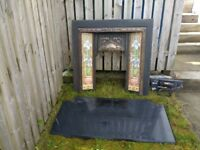 Castiron Fire Surrounding & Slate Harth