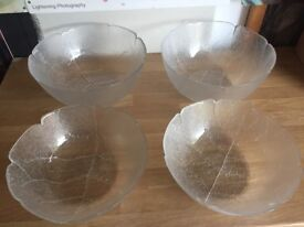 Range of glass bowls and pirex dishes