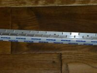 never used stikatak silver carpet edge 120cm length