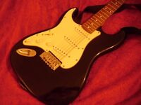 Axl player deluxe left-handed stratocaster guitar