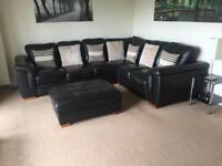Corner sofa and storage foot stool **sold pending pick up **