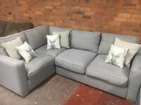 Harvey's Ex Display Grey Corner Sofa - Others Avail - UK Delivery