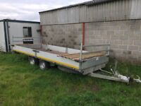 16' Eduard Flatbed Trailer with Canopy