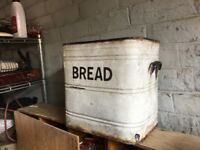 Original Enamel Bread Bin 2 Available- delivery available