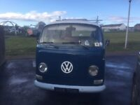 Rare 1972 rhd vw t2 campervan tin top restoration project