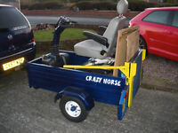 mobility scooter with trailer