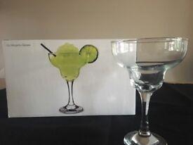 Brand new cocktail glasses city margarita 6 x 360ml