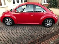 ***low mileage*** Red VW Beetle***One Year MOT***