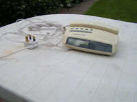Audioline bedside telephone/clock
