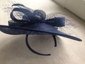 John Lewis Navy Blue Fascinator