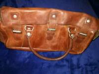 High Quality brown leather Gladstone Bag