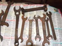 14 very old impearial spanners