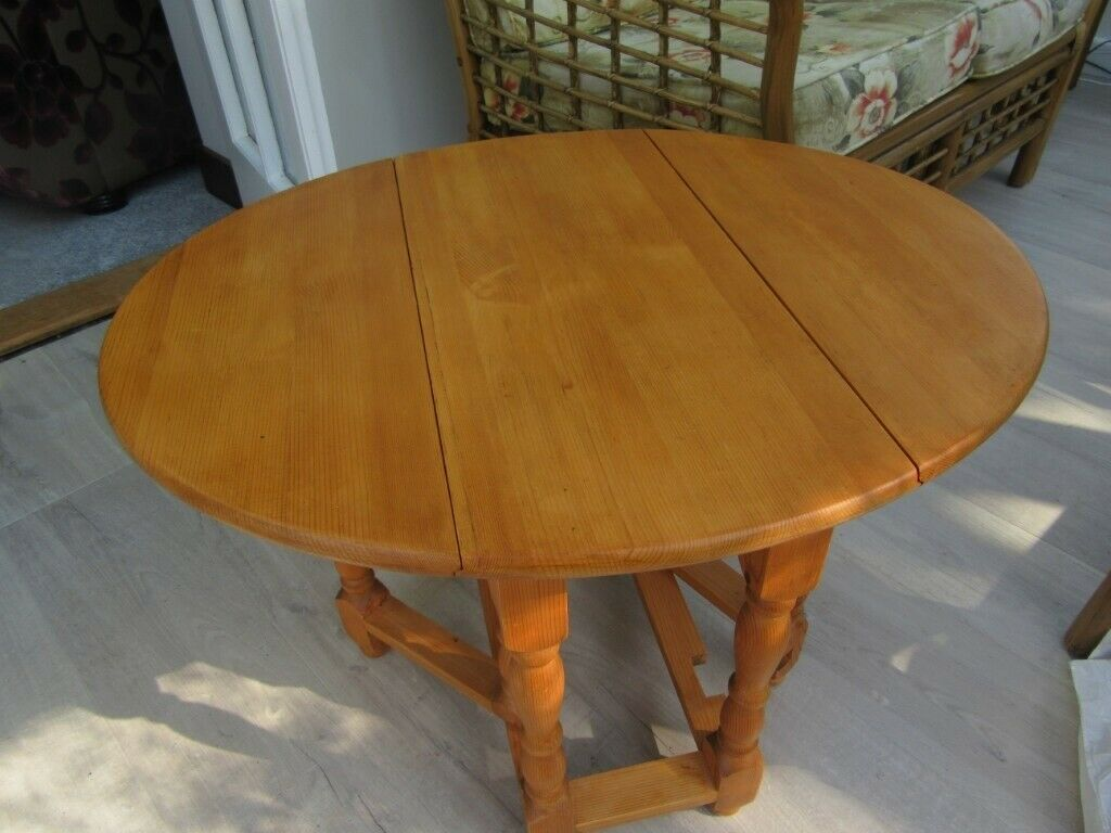 Incredible Furniture Pine Gateleg Table Drop Leaf Side End Lamp Oval Table In Needham Market Suffolk Gumtree Squirreltailoven Fun Painted Chair Ideas Images Squirreltailovenorg