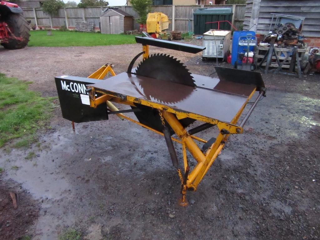McConnell tractor mounted PTO saw bench