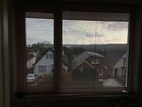 Wood effect aluminium blind