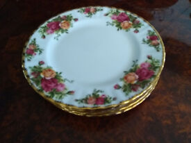 6 Vintage 1962 Royal Albert Old Country Roses 20cm Side Plates