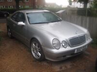 MERCEDES 230 KOMPRESSOR CLK 2000 WITH PRIVATE PLATE