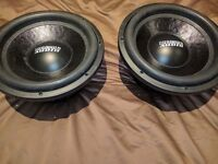 Sundown SA12 Rev 3 Dual 4 Ohm Subs Pair Subwoofer 1500RMS