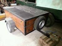 Car trailer with water cover 5' × 4'
