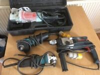 job lot spares repairs 110v power tools grinder drill polisher bosch / makita