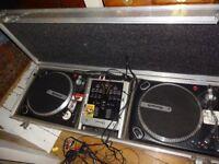 decks,mixer and case