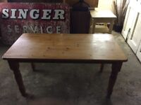 Pine Table and 4 Wooden Chairs