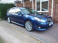 2011 Subaru Legacy Estate – top of the range Sat Nav edition with Subaru 10 spoke alloy wheels.