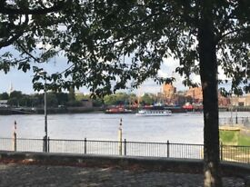 2 bed ground floor flat. By River Thames. Large lounge and kitchen. 2 bathrooms