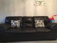 Sofa- 2 seater, 3 seater and foot puff