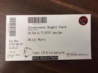 1 x olly murs ticket inverness