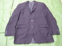 Navy Blue with Pinstripe Designer Limehaus Men's Jacket for £10.00
