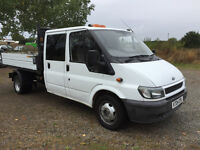 FORD TRANSIT 6 SEATER CREW CAB TIPPER TRUCK 2004 - HEAVY DUTY RAM - LONG MOT - READY FOR WORK