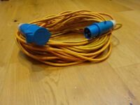 Mains electrical lead, 25 metre, used but no issue with working order