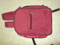 rucksack/cool bag maroon in colour