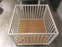 BabyDan Baby Playpen - White - With Mat - Both Excellent condition
