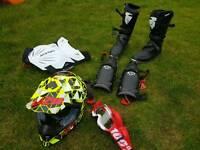 Full equipment Helmet Googles boots