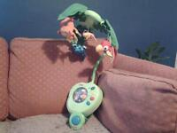 Fisher Price Rainforest Peek-a-Boo Musical Mobile **Used**