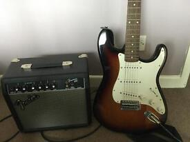 Electric amp and guitar