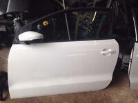 VOLKSWAGEN POLO DOOR 3DR N/S 2015 WHITE FULLY COMPLETE
