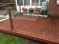 Glass balustrading & timber decking